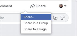 facebook post on business fan page - business page owner share
