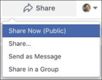 how to share facebook business page fan page post on personal individual timeline