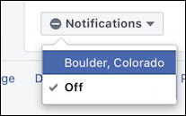 facebook weather notifications - boulder co