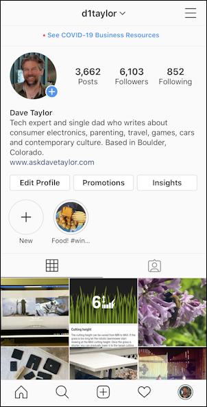 instagram profile dave taylor d1taylor