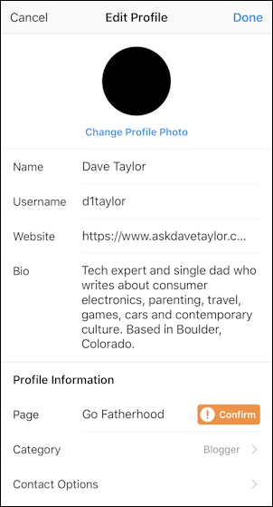 instagram solid black profile photo picture