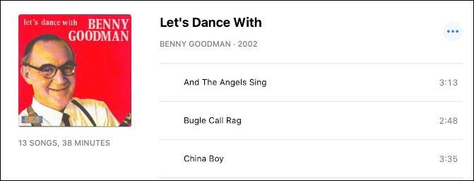 itunes - fix track name - benny goodman - fixed