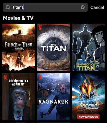 netflix usa search titans