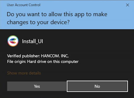 win10 - allow app to make changes to your device?