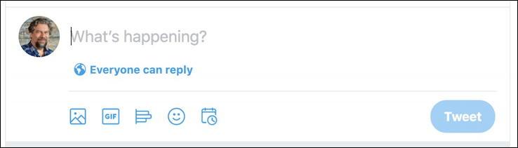 twitter tweet - empty text field enter