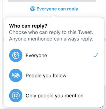 twitter tweet - who can reply to your tweet