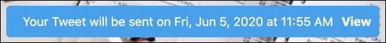 twitter tweet - scheduler confirmation