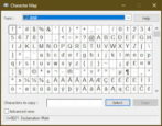 character map symbols unicode - windows win10 pc
