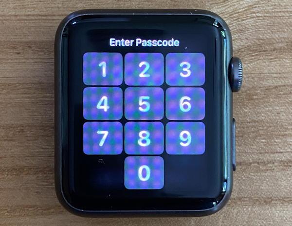 apple watch, locked, no band
