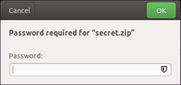 linux password required encrypted zip archive