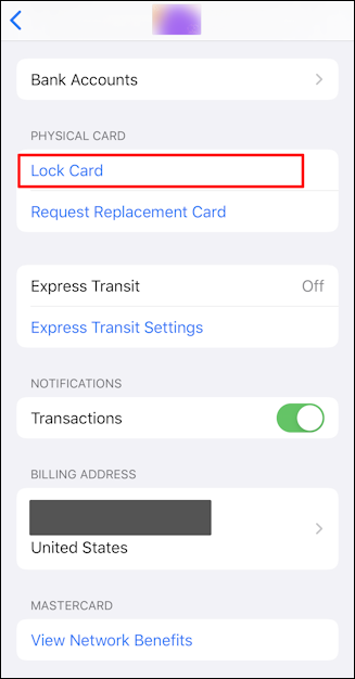 how to lock apple card
