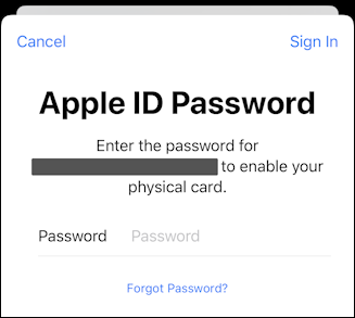 enter apple ID password