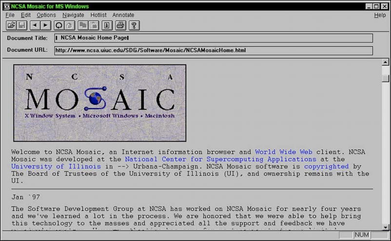 ncsa mosaic web browser
