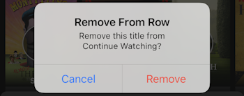 netflix continue watching - confirm remove from row - netflix mobile