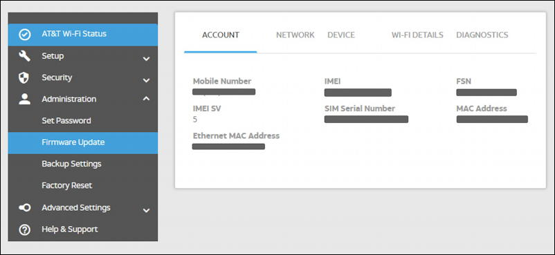 netgear nighthawk attwifimanager - admin settings