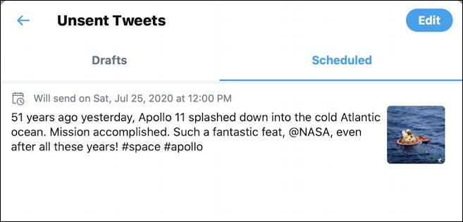 twitter scheduler scheduled tweets
