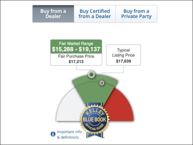 kelley blue book typical sale price, dealer, 2017 toyota prius car used