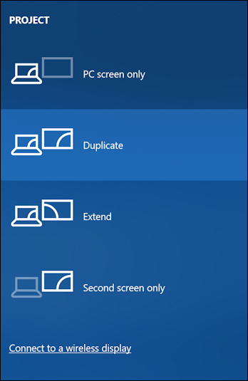 win10 project second screen display monitor layout