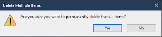 confirm windows 10 empty recycle bin trashcan