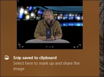 win10 notification - screen snip