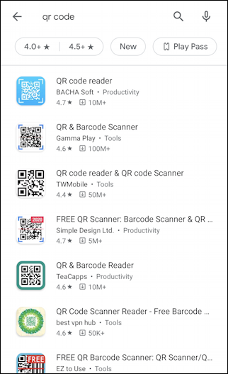 qr scanners android google play store