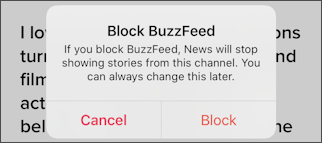 apple news iphone - do you want to block buzzfeed?