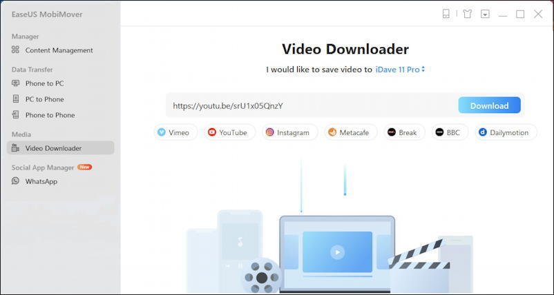 easeus mobimover pc - video download