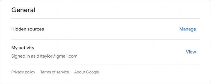 google news - gnews - settings