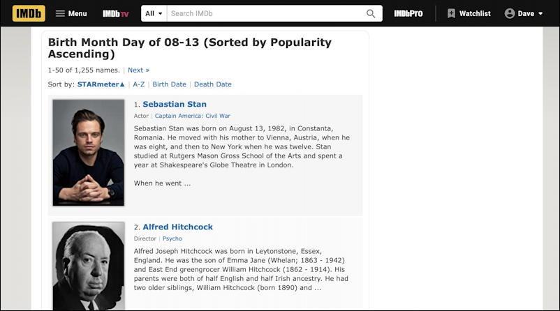 imdb birthdays 8/13 aug 13