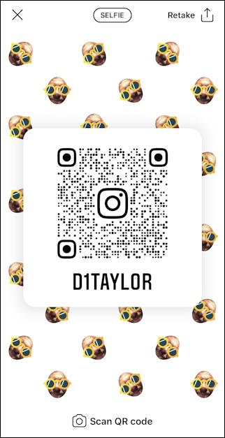 create instagram qr code - selfie