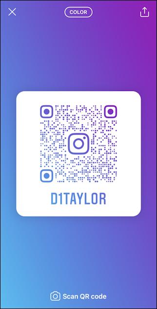 create instagram qr code - color