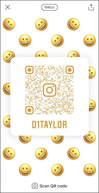 create instagram qr code - emoji