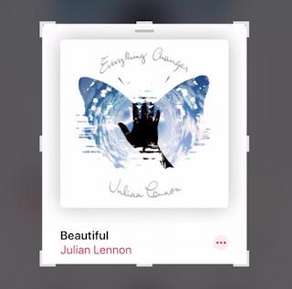 iphone ios13 screen capture - cropped image julian lennon beautiful