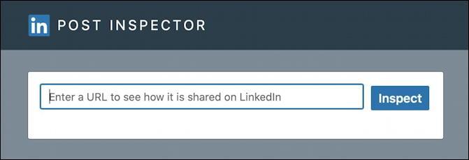 linkedin post inspector - input box
