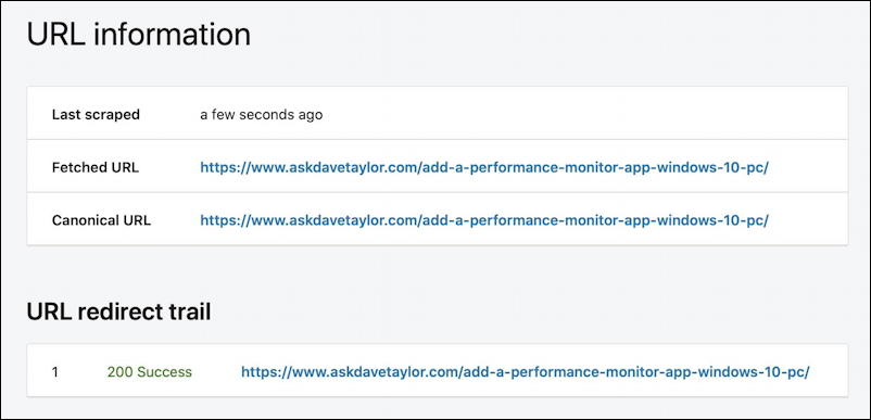 linkedin post inspector - bad link, no results