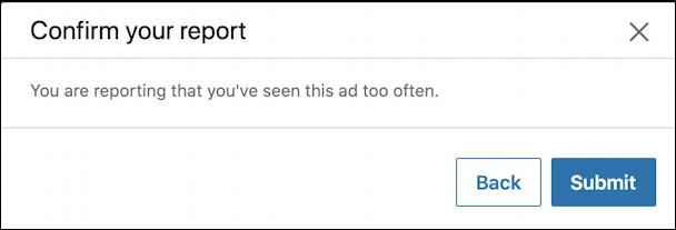 linkedin report ad seen too often