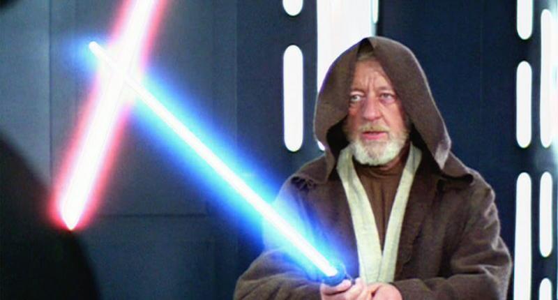obi wan kenobi light saber alec guiness