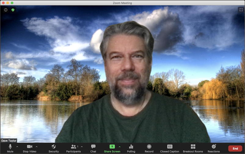 zoom meeting, dave taylor on video, mac macos x