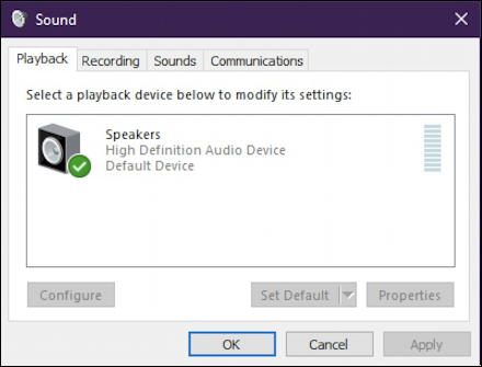 win10 system sounds preferences settings