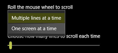 win10 mouse controls - scroll wheel preferences settings options