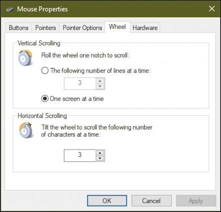 fine tune adjust scroll wheel windows 10 mouse pc
