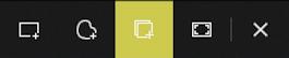 windows screen capture grab snipping toolbar