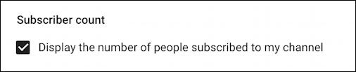 hide subscriber count, youtube channel
