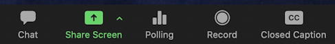 zoom toolbar - polls