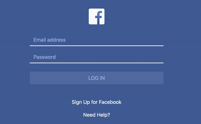 scam fake phishing facebook login page