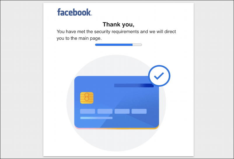 facebook phishing scam page verified