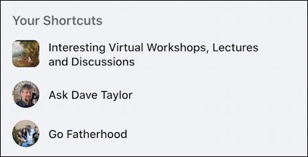 rename facebook group - shortcuts