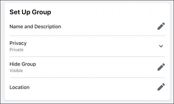 rename facebook group - settings name & description