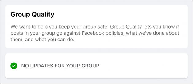 rename facebook group - group quality score rating