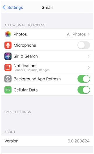 gmail app iphone ios14